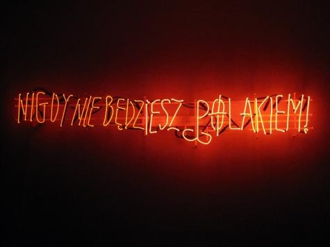 Hubert Czerepok. Nigdy nie bedziesz polakiem (You Will Never Be Polish), 2008. Courtesy ZAK BRANICKA.