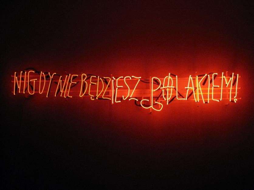 Hubert Czerepok. Nigdy nie bedziesz polakiem (You Will Never Be Polish), 2008. Courtesy ZAK|BRANICKA.